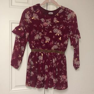 Flowery girls dress